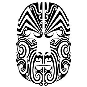 Maori Face Tribal Vector - бесплатный vector #220401
