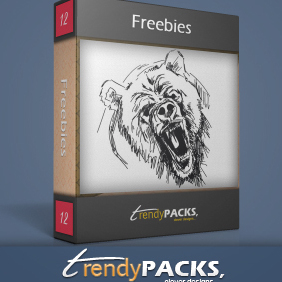 Angry Bear - Hand Drawn - Free vector #220531