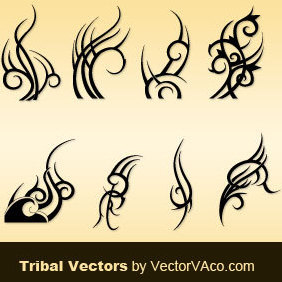 8 Tribal Vectors - Free vector #220761