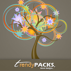 Abstract Tree Vector - Kostenloses vector #220801