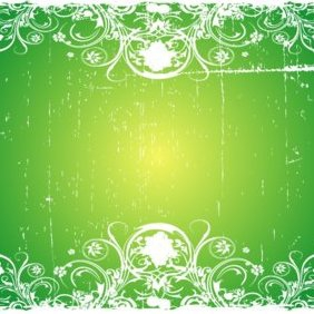 Grungy Green Swirly Vector - Free vector #220811