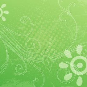 Green Grunge Background V 4 - vector gratuit #220921