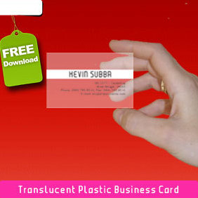 Translucent Plastic Business Card - vector gratuit #220991