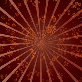 Star Burst Flower Background - vector #221141 gratis