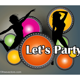 Party Poster Vector - vector gratuit #221151