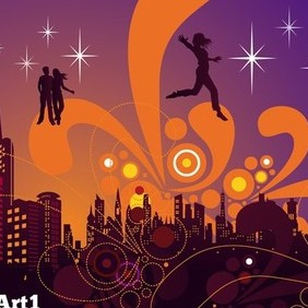 City Nightlife Vector - vector #221211 gratis