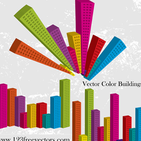Vector Color Buildings - Free vector #221301