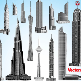 Skyscraper Vector Pack 1. - бесплатный vector #221331