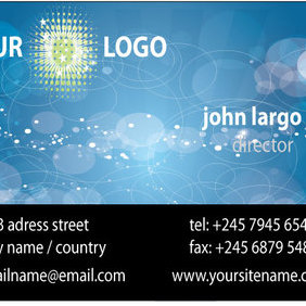 Business Card Vector - vector #221401 gratis