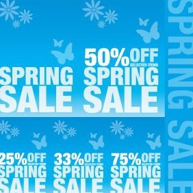 Spring Sale Signs - vector gratuit #221461
