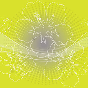 Green Flower Background - Kostenloses vector #221471