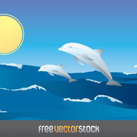 Happy Dolphins - Free vector #221531