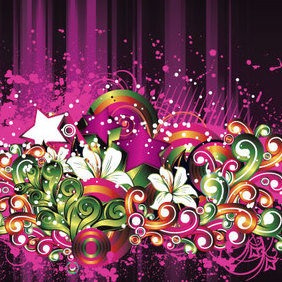 Free Floral Grungy Background - Free vector #221591