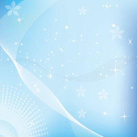 Blue Stars Background - Free vector #221641