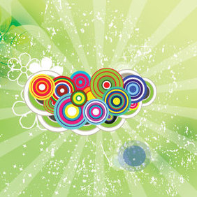 Green Swirly Vector - vector #221721 gratis