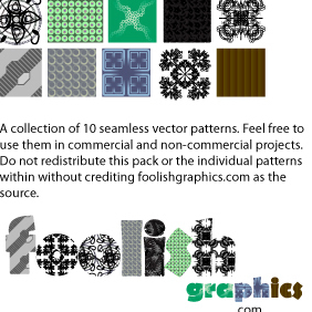 2 Foolish Pattern Pack - бесплатный vector #222091