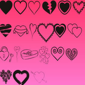 Hearts Mix - vector gratuit #222221