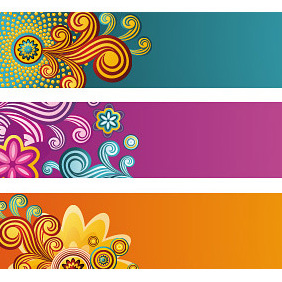 Beautiful Banners - vector #222241 gratis