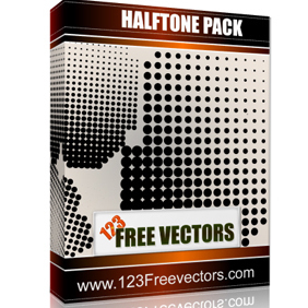 Halftone Free Pack - vector gratuit #222431