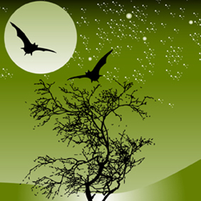 Nature Night Scene - vector gratuit #222471