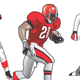 Footbal Players - Free vector #222981