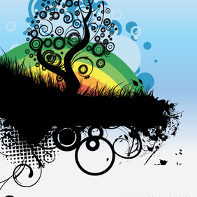 Abstract Tree Vector Illustration - vector #223051 gratis