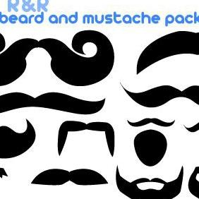 Mustache Vector And Beard Pack - Free vector #223221