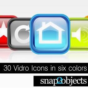 30 Free Vidro Icon Vector Pack In Six Colors - vector gratuit #223241