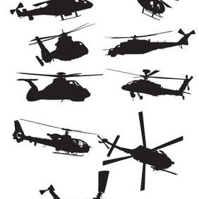 Helicopter Vector Pack - бесплатный vector #223551