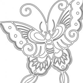 Butterfly Stencil - Kostenloses vector #223571