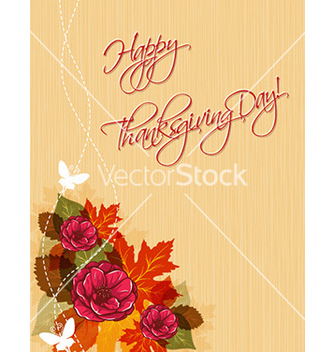 Free happy thanksgiving day with flowers vector - Free vector #223641