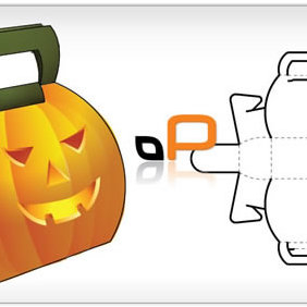 Pumpkin Box Vector Template - vector gratuit #223831