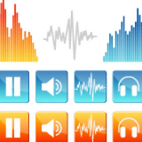 Sound Vector Icons - vector gratuit #223841