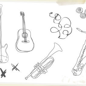 Musical Instruments - vector gratuit #223851