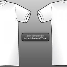 Shirt Vector Template - Free vector #223861