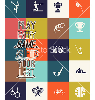 Free with sport elements vector - Free vector #224001