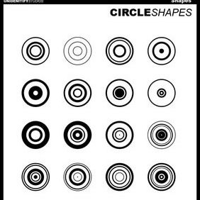 Circle Shapes I For Photoshop - vector gratuit #224041