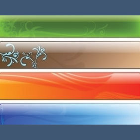 Glass Header Designs - vector gratuit #224051