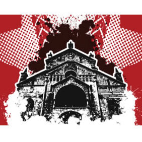 Grungy Church Vector 117 - vector gratuit #224061