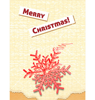 Free christmas with snow flake vector - vector #224351 gratis