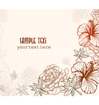 Free floral background vector - vector gratuit #224391