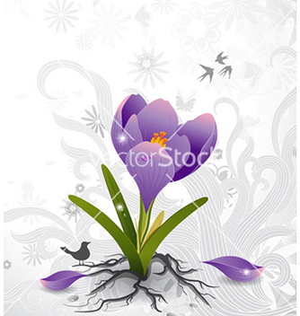 Free floral background vector - Free vector #224421