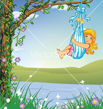 Free cute little girl vector - vector gratuit #224601