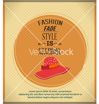 Free with fashion typography vector - vector #224691 gratis