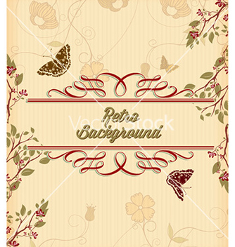 Free retro floral background vector - vector gratuit #224951