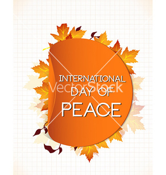 Free international day of peace with sticker vector - бесплатный vector #225161
