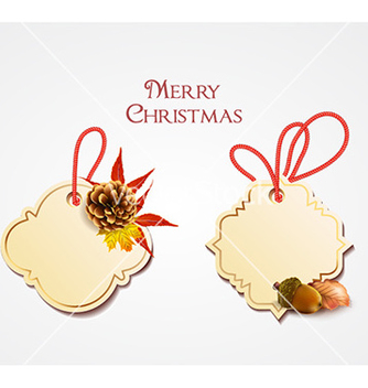 Free christmas with sticker vector - vector gratuit #225171
