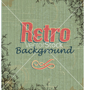 Free retro floral background vector - vector gratuit #225201