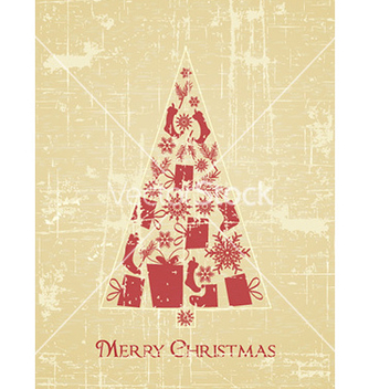 Free christmas with tree vector - Kostenloses vector #225281