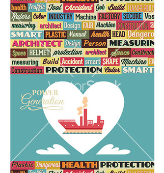 Free with industrial typography elements vector - Free vector #225321